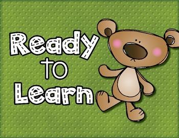 Behavior Clipchart: Bear Theme