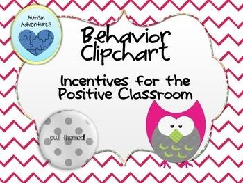 Behavior Clipchart: Chevron Owl Theme