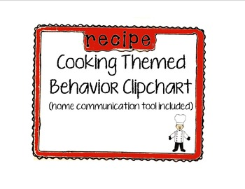 Behavior Clipchart (Cooking Theme)