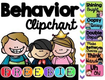 Behavior Clipchart Freebie