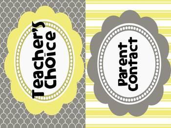 Behavior Clipchart: Yellows & Grays