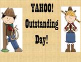 Behavior Clipchart in a western/cowboy theme
