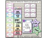 Chevron Behavior Color Chart {2 Versions}