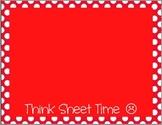 Behavior Color Chart - Polka Dots - Red