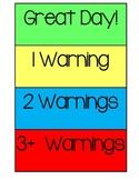 Behavior Color Clip Chart