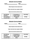 Behavior Communication
