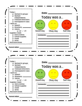 Behavior/ Conduct Sheet