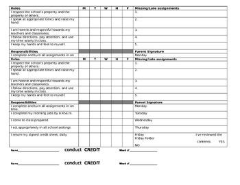 Behavior & Conduct Tracker