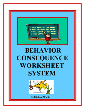 Behavior Consequence Worksheet System