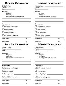 Behavior Consequences