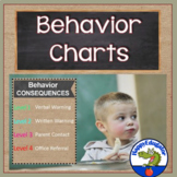 Behavior Chart and Posters - Burlap and Chalkboard Classroom Decor