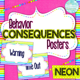 Behavior Consequences Posters: Neon