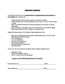 Behavior Contact
