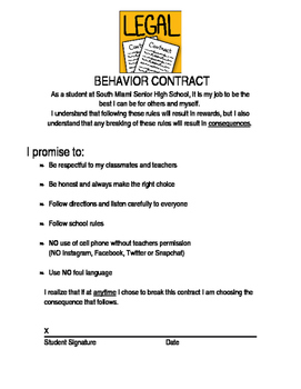 Behavior Contract