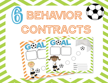 Behavior Contract BUNDLE: 24 Sports Themed contracts