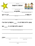 Behavior Contract -- Classroom Management