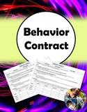 Behavior Contract (Editable, FREE!)