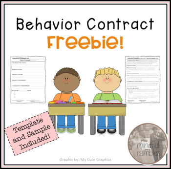 Behavior Contract Freebie!