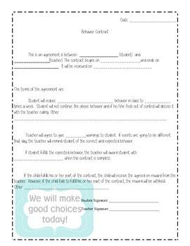 Behavior Contract (Simple)