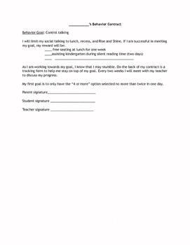 Behavior Contract-Talking