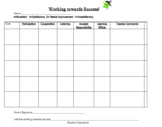 Behavior Contract/Tracking