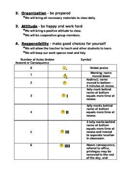Behavior Contract and September Behavior Tracker