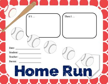 Behavior Contract: baseball / softball theme