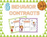 Behavior Contract: basketball theme