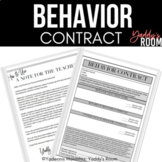 Behavior Contract for 6-12: Classroom Management for Secon