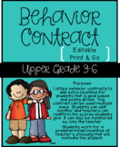 Behavior Contract for Upper Elementary Grades
