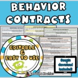 Behavior Contracts Bundle: Editable Pages to Reinforce & Improve Behavior