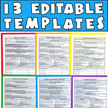 Behavior Contracts Bundle: Editable Pages to Reinforce & Improve Behavior