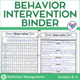 Behavior Contracts and Behavior Intervention Forms EDITABLE