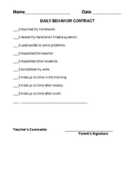 Behavior Contracts and Coupons for Home and School