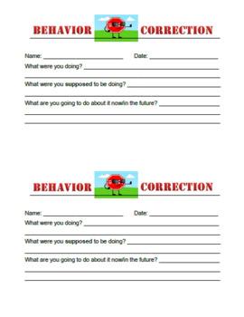 Behavior Correction Form