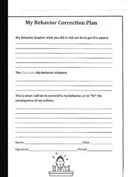 Behavior Correction Sheet