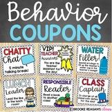 Behavior Coupons: Behavior Management/ Positive Reinforcement