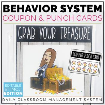 Behavior Coupons Editable Classroom Management System Bitmoji