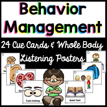Behavior Visual  Cue Cards {24 for lanyard} & Whole Body L