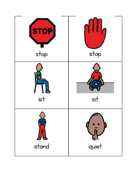 Visual Cue Cards for Behavior