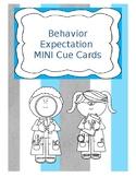 Behavior Cue Cards