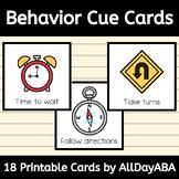 Behavior Cue Cards - Behavior Management, Visual Cue Cards