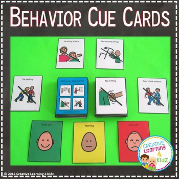 Behavior Cue Cards PECS Autism