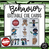 Behavior Cue Cards for Early Childhood:  Editable Set in C