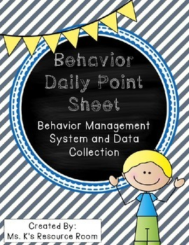 *Editable* Behavior Daily Point Sheet