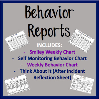Behavior Daily Reports and Forms