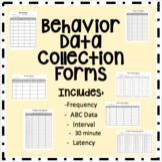 Behavior Data Collection Forms