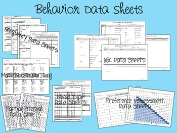 Behavior Data Collection for ABA, Autism, or Special Education