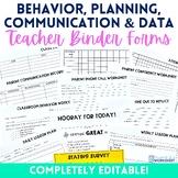 Teacher Binder Resources