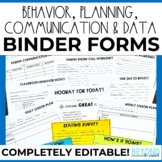 Teacher Binder Resources